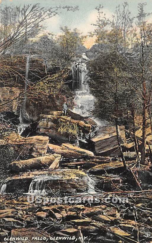 Glenwild Falls - Glen Wild, New York NY Postcard
