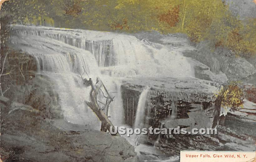 Upper Falls - Glen Wild, New York NY Postcard