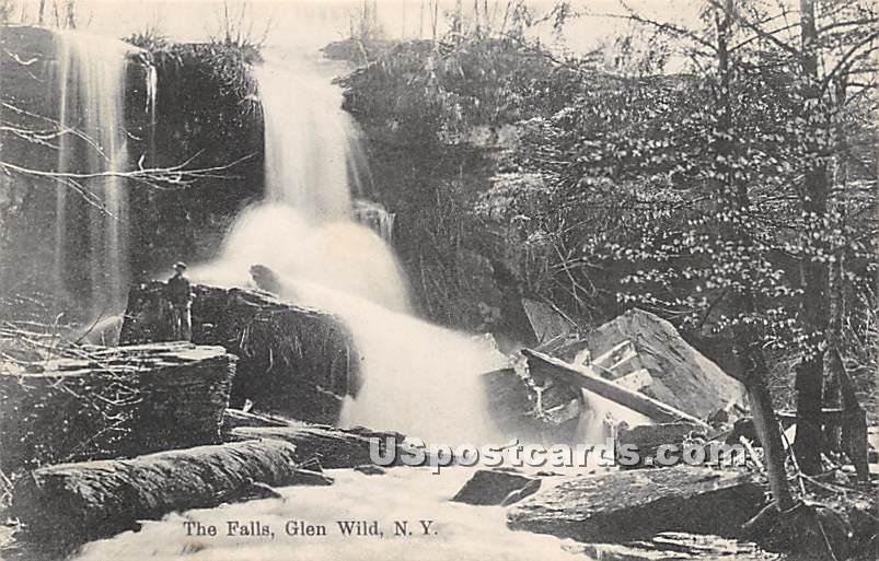 The Falls - Glen Wild, New York NY Postcard