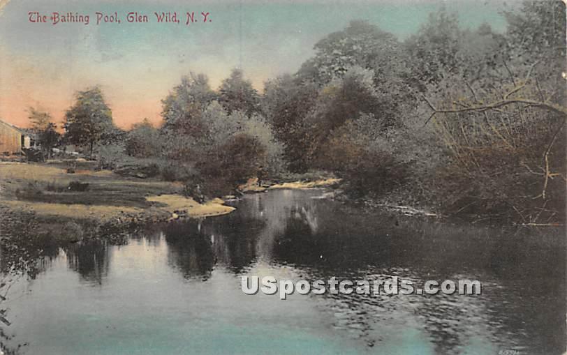 Bathing Pool - Glen Wild, New York NY Postcard