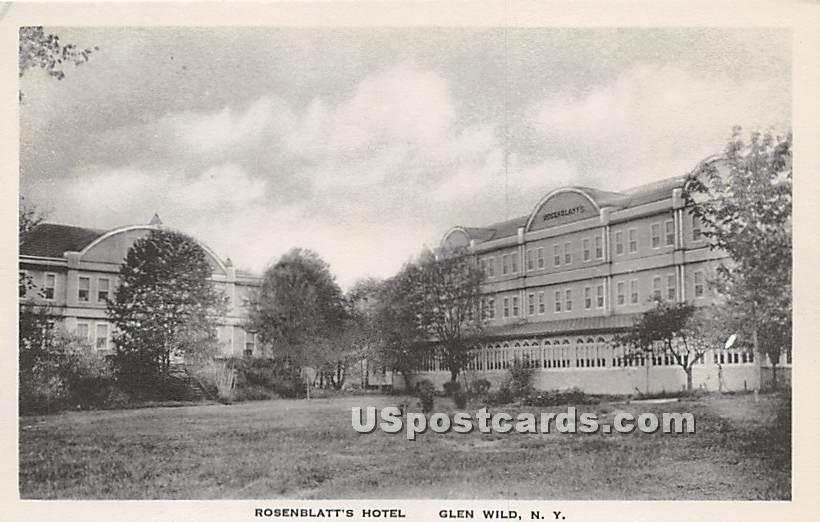Rosenblatt's Hotel - Glen Wild, New York NY Postcard