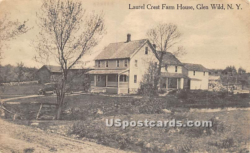 Laurel Crest Farm House - Glen Wild, New York NY Postcard