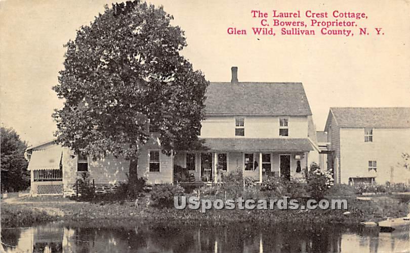 Laurel Crest Cottage - Glen Wild, New York NY Postcard