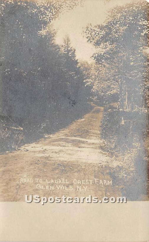 Road to Laurel Crest Farm - Glen Wild, New York NY Postcard