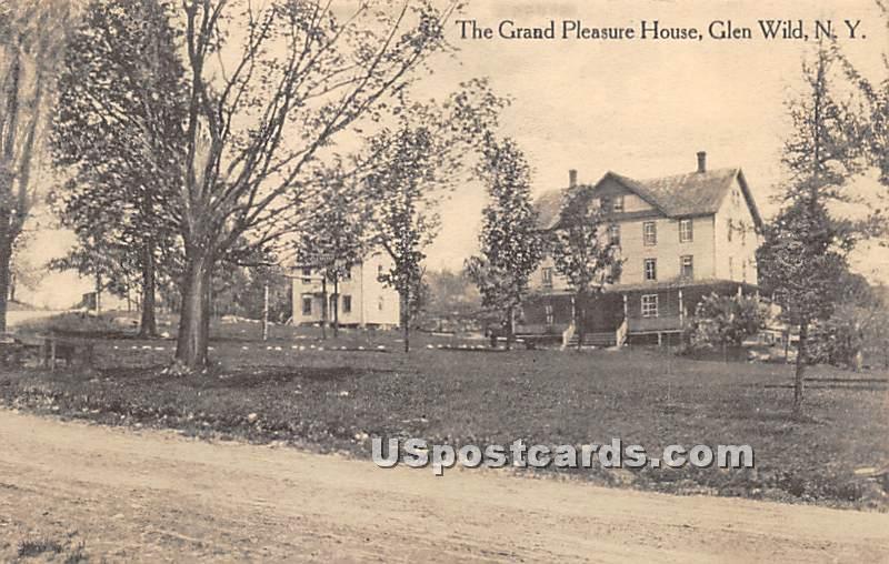 Grand Pleasure House - Glen Wild, New York NY Postcard