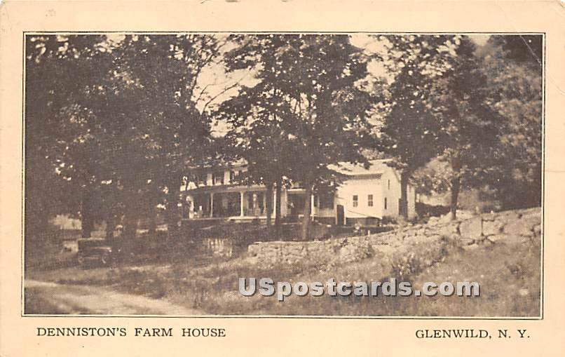 Denniston's Farm House - Glen Wild, New York NY Postcard