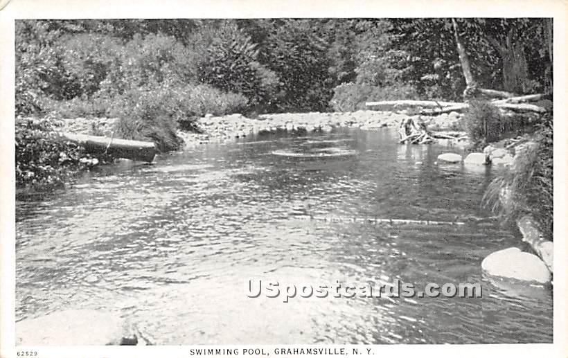 Swimming Pool - Grahamsville, New York NY Postcard