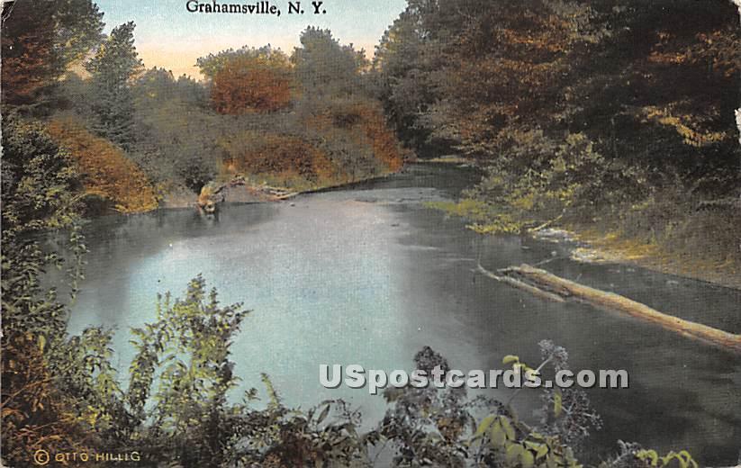 Water Scene - Grahamsville, New York NY Postcard