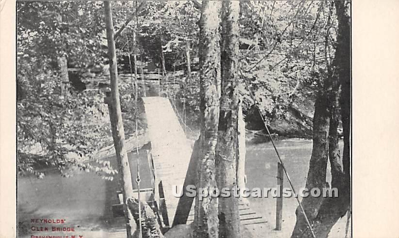 Reynolds Glen Bridge - Grahamsville, New York NY Postcard
