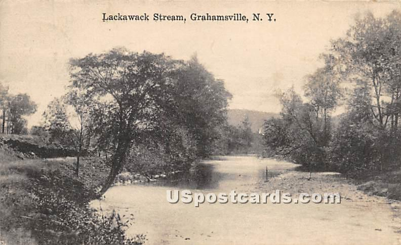 Lackawack Stream - Grahamsville, New York NY Postcard