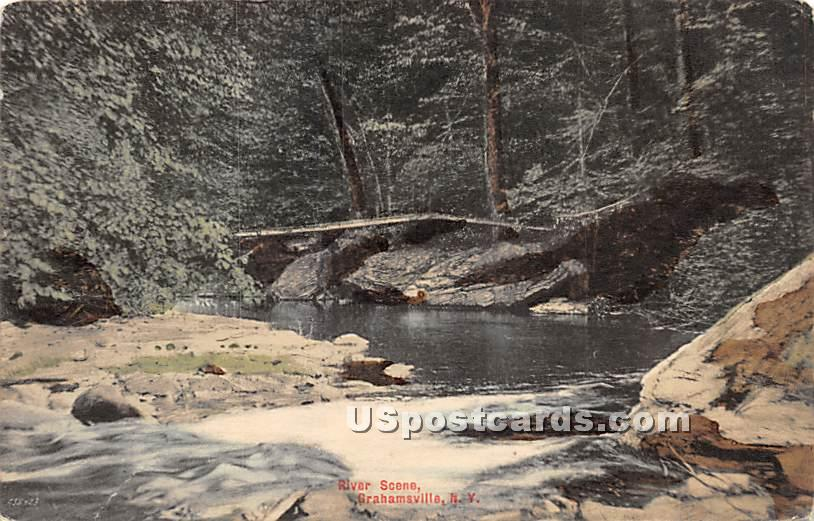 River Scene - Grahamsville, New York NY Postcard