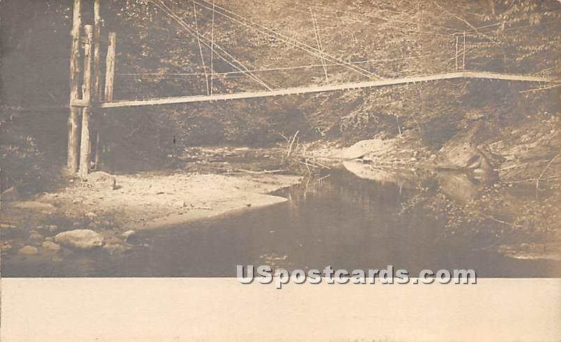 Bridge - Grahamsville, New York NY Postcard