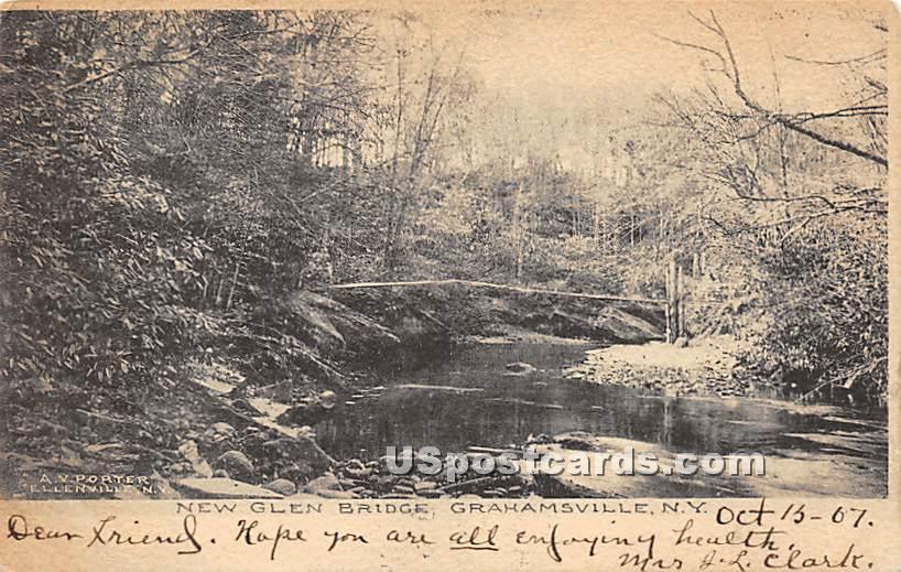 New Glen Bridge - Grahamsville, New York NY Postcard