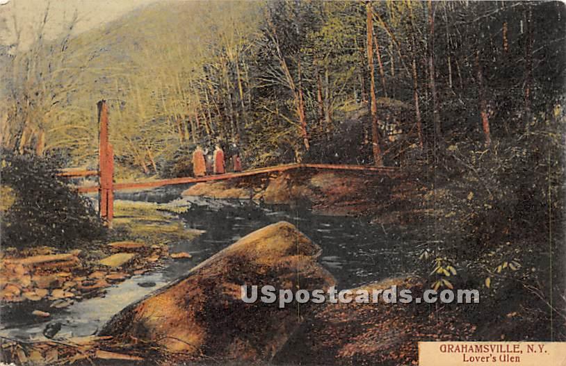 Lover's Glen - Grahamsville, New York NY Postcard