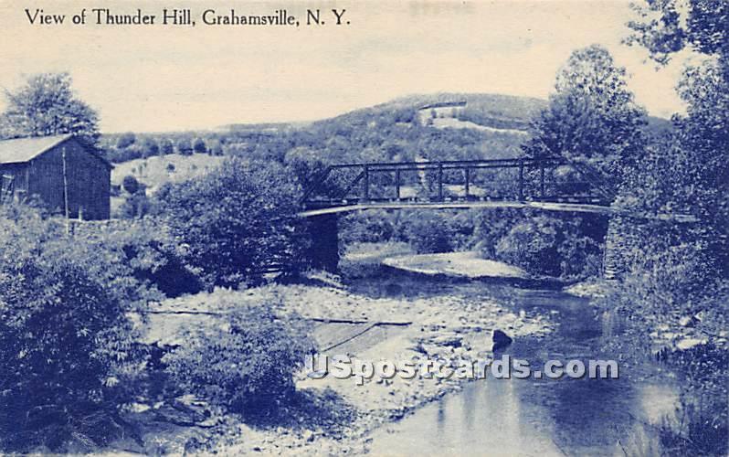View of Thunder Hill - Grahamsville, New York NY Postcard