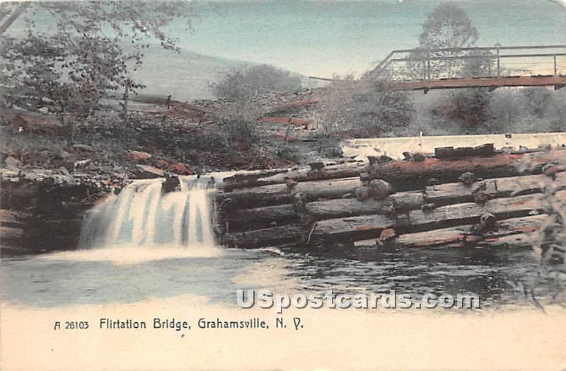Flirtation Bridge - Grahamsville, New York NY Postcard