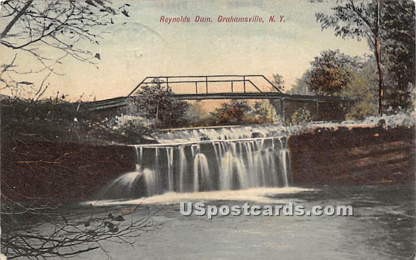 Reynolds Dam - Grahamsville, New York NY Postcard
