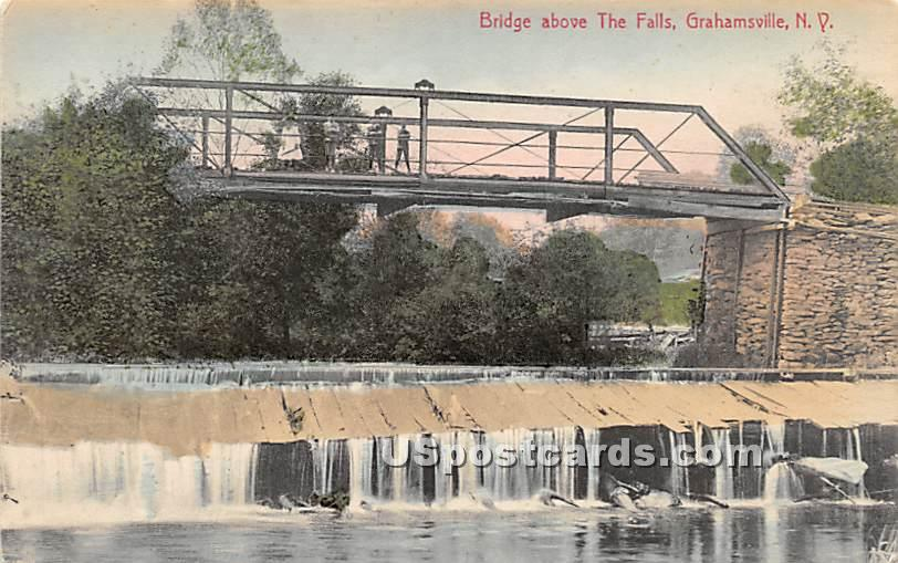 Bridge above The Falls - Grahamsville, New York NY Postcard
