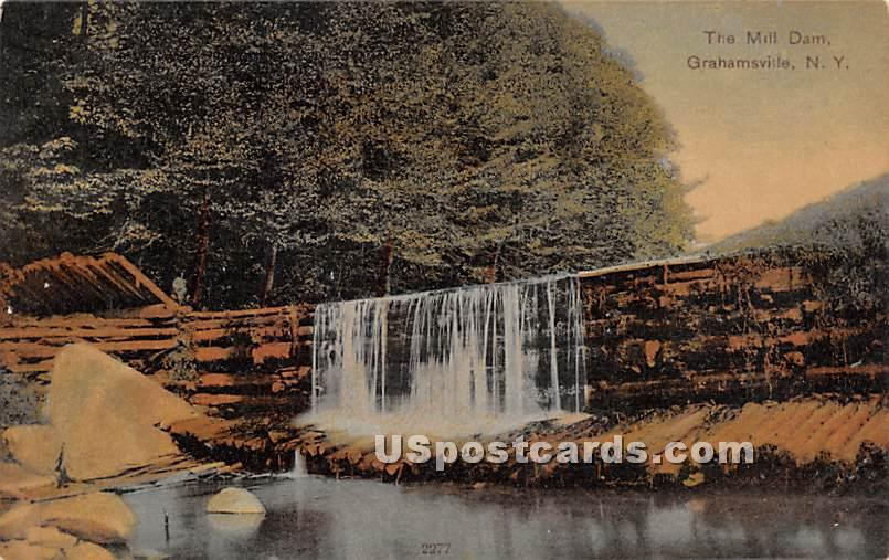 The Mill Dam - Grahamsville, New York NY Postcard