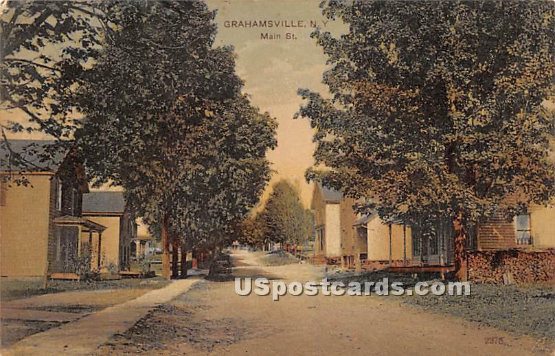 Main Street - Grahamsville, New York NY Postcard
