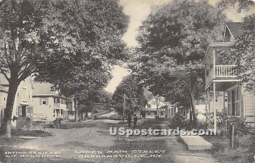 Lower Main Street - Grahamsville, New York NY Postcard