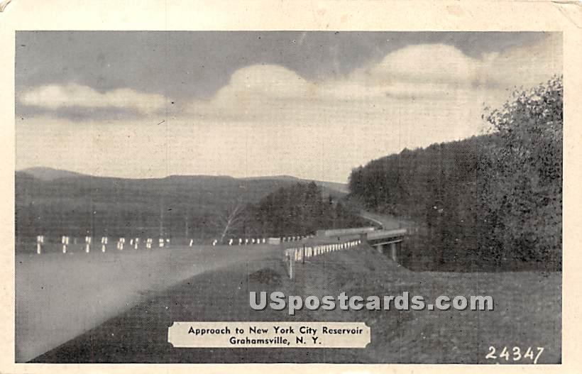 Approach to New York City Reservoir - Grahamsville Postcard