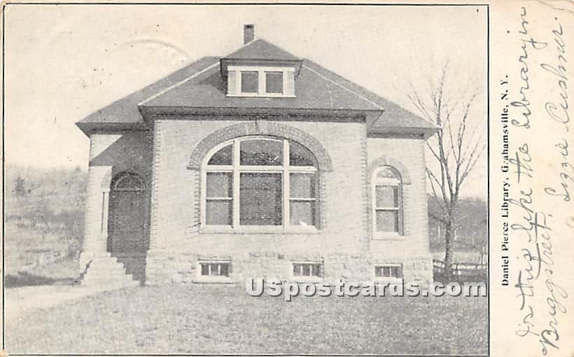 Daniel Pierce Library - Grahamsville, New York NY Postcard