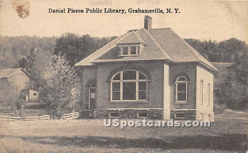Daniel Pierce Public Library - Grahamsville, New York NY Postcard