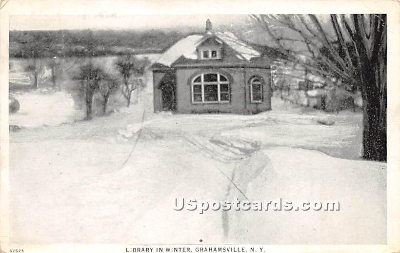Pierce Library - Grahamsville, New York NY Postcard