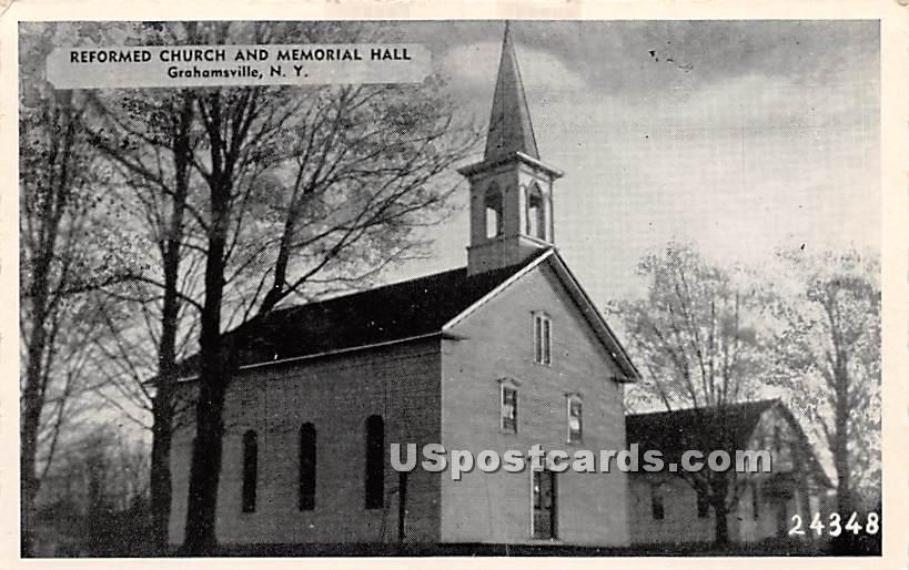 Reformed Church and Memorial Hall - Grahamsville, New York NY Postcard