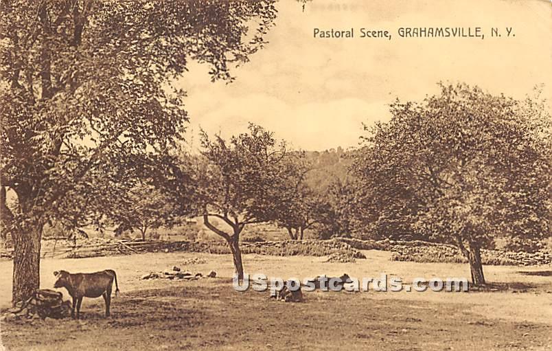 Pastoral Scene - Grahamsville, New York NY Postcard