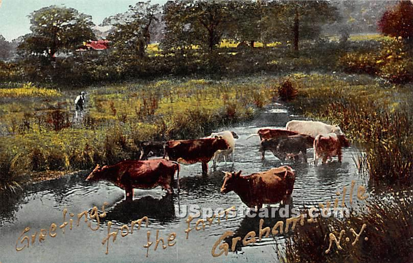 Greetings from - Grahamsville, New York NY Postcard