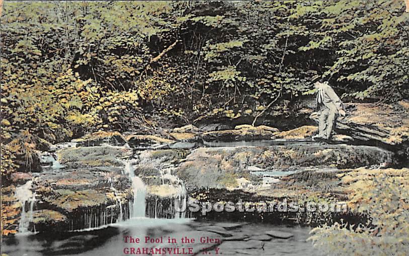 The Pool in the Glen - Grahamsville, New York NY Postcard