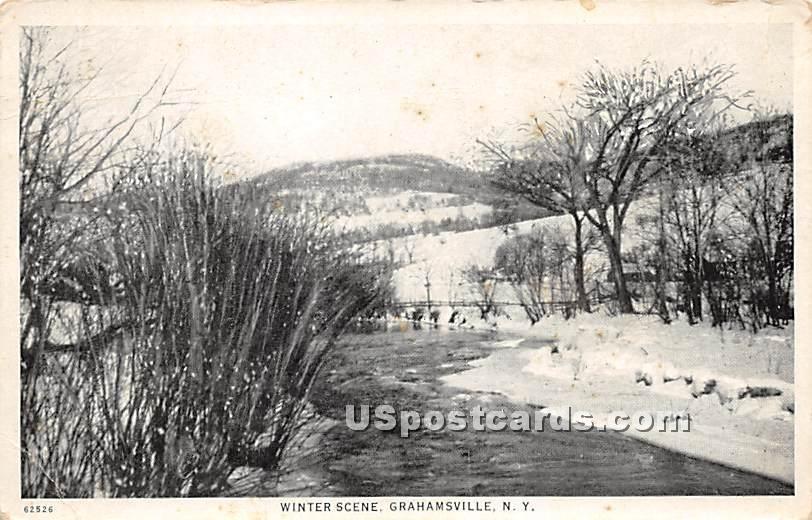 Winter Scene - Grahamsville, New York NY Postcard