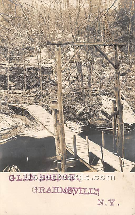 Glen Bridge - Grahamsville, New York NY Postcard