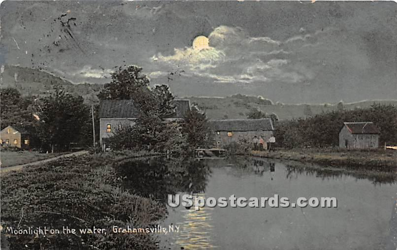 Moonlight to the Water - Grahamsville, New York NY Postcard