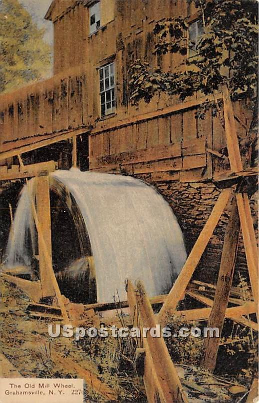 The Old Mill Wheel - Grahamsville, New York NY Postcard