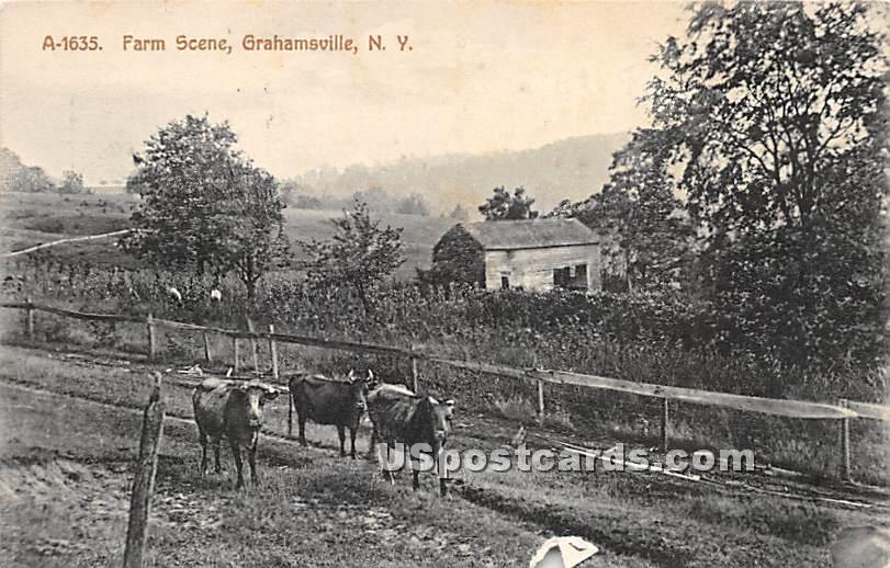 Farm Scene - Grahamsville, New York NY Postcard