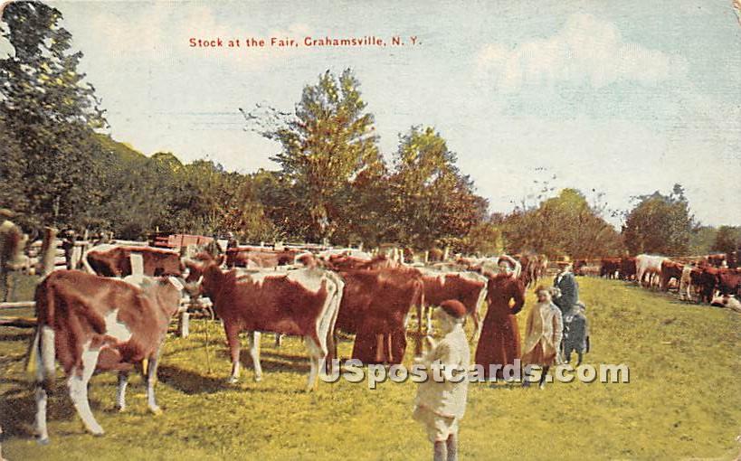 Stock at the Fair - Grahamsville, New York NY Postcard