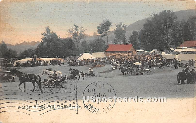 At the Fair - Grahamsville, New York NY Postcard