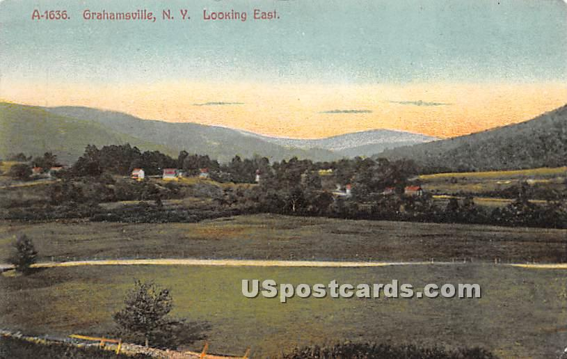Looking East - Grahamsville, New York NY Postcard