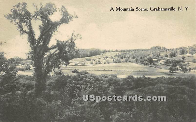 Mountain Scene - Grahamsville, New York NY Postcard