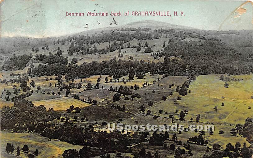 Denman Mountain Back - Grahamsville, New York NY Postcard