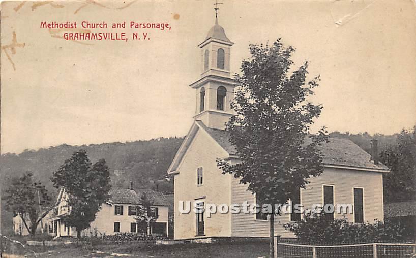 Methodist Church and Parsonage - Grahamsville, New York NY Postcard