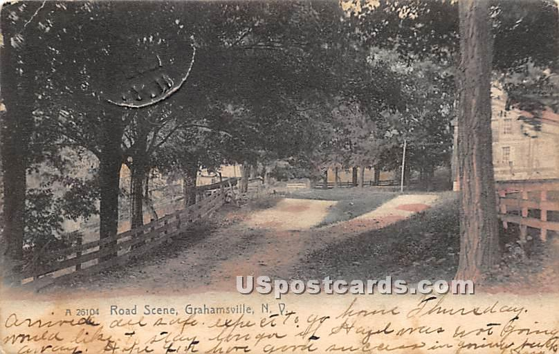 Road Scene - Grahamsville, New York NY Postcard