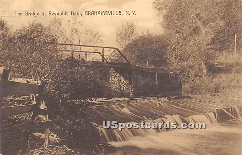 Bridge at Reynolds Dam - Grahamsville, New York NY Postcard