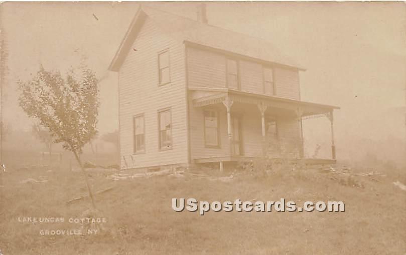 Lake Uncas Cottage - Grooville, New York NY Postcard