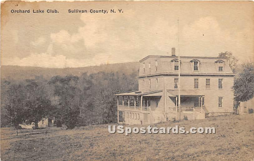 Orchard Lake Club - Grooville, New York NY Postcard