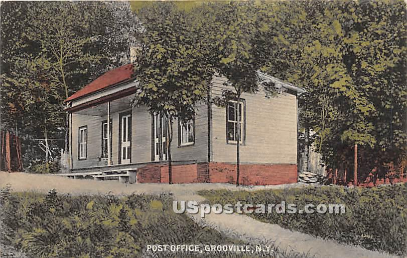 Post Office - Grooville, New York NY Postcard