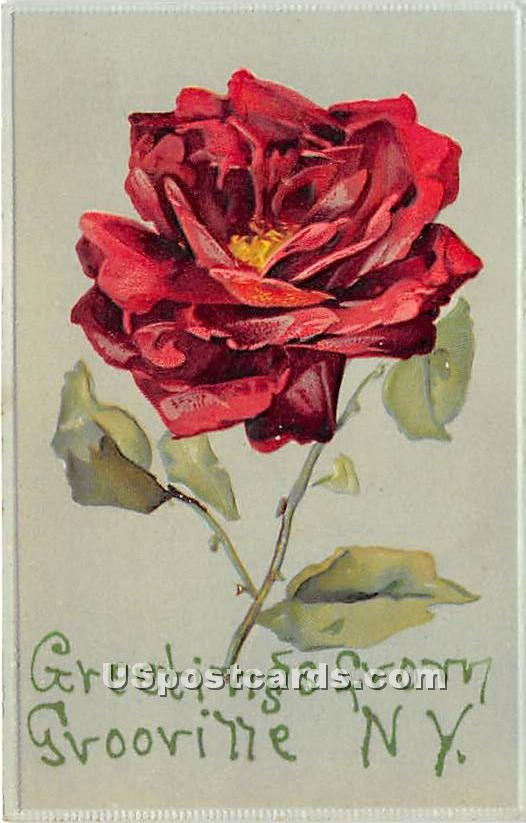 Greetings from - Grooville, New York NY Postcard